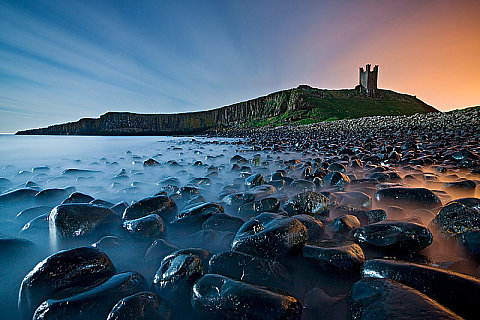 Dunstanburgh by Moonlight, by Rainer Mirau