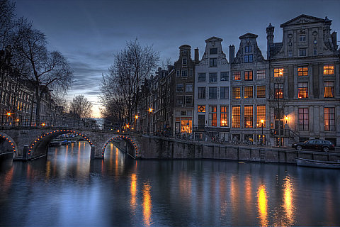 Amsterdam at Dusk, by Stefan Guth