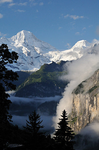 Lauterbrunnen Valley from Wengen, by Robert Taylor