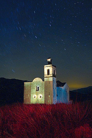Abandoned Church in Lorigilla, Spain. Lightpainting