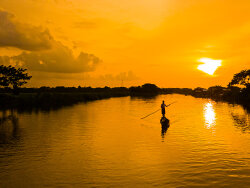 Evening beauty with fishermen