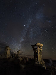 The Milky Way over the Alien Throne