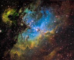 The Eagle Nebula in Narrow Band