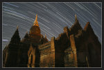 Star Trails over Bagan, by boothee