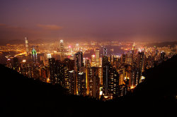 Evening at Victoria Peak