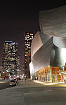 los angeles walt disney hall and downtown