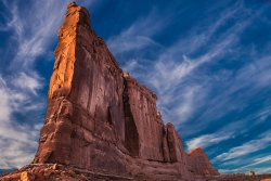 Sunset at the Tower of Babel, Arches NP, UT, USA